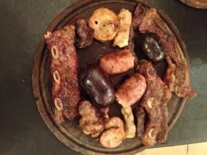 Argentinian asado dinner